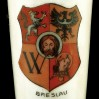 Herb miasta BRESLAU na zabytkowej porcelanie