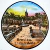 Piękny widok na Wrocławski Belweder uwieczniony na cennej porcelanie