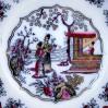 Piękny talerz ceramiczny w typie CHINOISERIE model Canton marki BF