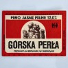 Etykieta piwna GÓRSKA PERŁA browaru w Radkowie