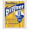 Etykieta piwna Brauerei Heidrich Neustadt ! PW Browar Prudnik