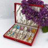 Demitasse - duński komplet sześciu srebrnych, ręcznie emaliowanych łyżeczek.