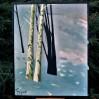 Nastrojowy zimowy krajobraz utrzymany w stylistyce z pogranicza realizmu i ekspresjonizmu.