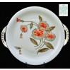 Porcelanowa patera dekorowana motywem kwiató