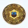 Zabytkowy suwenir z kolorowym herbem Chełmno