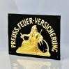Bardzo rzadki okaz Pruskiego Towarzystwa Ogniowego - blacha tłoczona i złocona