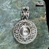 Efektowny srebrny ażur w postaci pięknego sitka do parzenia herbaty i ziół