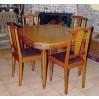 Francuskie ART DECO! Stół + 4 krzesła SYGNOWANE