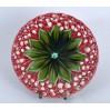 Wyjątkowy talerz z majoliki zdobionej kwitnącymi konwaliami