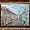 Klasyczne przedstawienie pejzażu miejskiego, w którym artysta wykorzystał perspektywę zbieżną