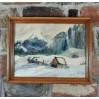 Tatry zimą - piękna akwarela w baśniowym klimacie.