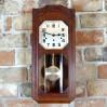 Fenomenalnie rzeźbiony zegar ścienny Kienzle z epoki Art Deco