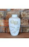 Wysoki podłogowy wazon z motywem złotych kwiatów - piękny wyrób Hutschenreuther