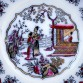 Chinoiserie z lat 1850-1880 - talerz marki Boch Freres model CANTON